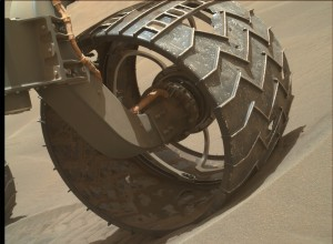 Curiosity's Mars Hand Lens Imager (MAHLI), located on the turret at the end of the rover's robotic arm, snapped this image on April 17, 2015, Sol 958.  Image Credit: NASA/JPL-Caltech/MSSS