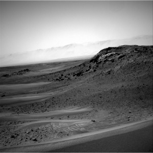 This image was taken by Curiosity's Navcam: Right B on Sol 956 (2015-04-15).     Image Credit: NASA/JPL-Caltech