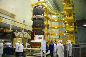 Progress M-27M being readied for launch. Credit: OAO RSC Energia