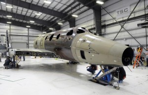 On its wheels for the first time - second SpaceShipTwo. Credit: Virgin Galactic