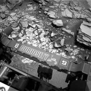Curiosity draws closer to explore two different types of bedrock, as seen in this Navcam Left B image taken on May 27 on Sol 997. Image Credit: NASA/JPL-Caltech