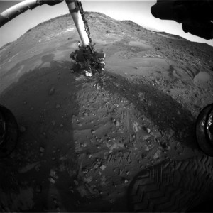 Curiosity Mars rover snapped this image from its Front Hazcam: Right B on May 19, Sol 989. Credit: NASA/JPL-Caltech