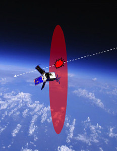 The Optical Orbital Debris Spotter is capable of detecting debris with sizes as small as about 0.01 centimeters in the vicinity of a host spacecraft for near real-time damage attribution and characterization of dense debris fields.  Credit: Naval Research Laboratory (NRL)