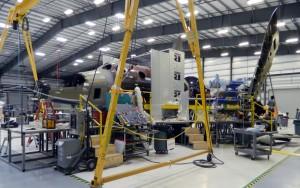 Second SpaceShipTwo taking shape. Credit: Virgin Galactic
