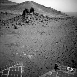 NASA's Opportunity long-lived Mars rover used its Navigation Camera on Sol 4014 to image this feature. Credit: Credit: NASA/JPL-Caltech/Cornell Univ./Arizona State Univ.