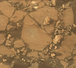 This image was taken by Mastcam: Right (MAST_RIGHT) onboard NASA's Mars rover Curiosity on Sol 1027 (2015-06-27 09:13:00 UTC).   Credit: NASA/JPL-Caltech/MSSS