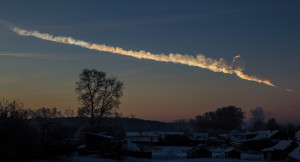 Wake-up call: The 2013 incoming space rock over Chelyabinsk, Russia. Credit: Alex Alishevskikh