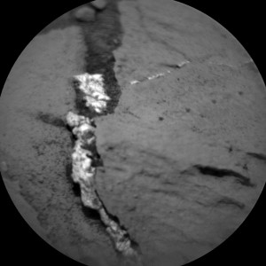 This image was taken by ChemCam: Remote Micro-Imager (CHEMCAM_RMI) onboard NASA's Mars rover Curiosity on Sol 1027 (2015-06-27 08:30:21 UTC).   Credit: NASA/JPL-Caltech/LANL