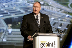 Deputy Secretary of Defense Bob Work delivers remarks at the U.S. Geospatial Intelligence Foundation (GEOINT 2015) Symposium, Walter E. Washington Convention Center on June 23 , 2015. Credit: DoD/U.S. Army Sgt First Class Clydell Kinchen