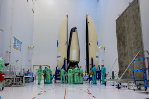 Shown pre-launch, the IXV was hurled into space on top of a Vega rocket, VV04, climbing up to 260 miles (420 kilometers) before beginning a long glide back through the atmosphere. In the process, IXV gathered data on reentry conditions to help guide the design of future spaceplanes. Credit ESA–M. Pedoussaut, 2015