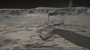 The Philae lander of Europe's Rosetta comet mission is shown in this artistic rendering. Credit: DLR (CC-BY 3.0)