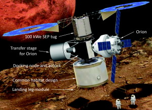 Phobos base concept. Credit: New Space/ Mary Ann Liebert, Inc., publishers.