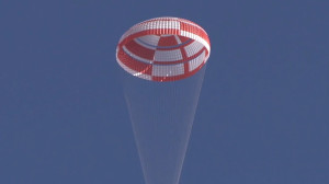 The Supersonic Ringsail parachute used during the Low-Density Supersonic Decelerators test from Kauai, Hawaii, was first tested at the Naval Air Weapons Station China Lake, California earlier this year. Credits: NASA/JPL-Caltech/US Navy