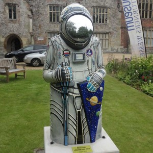 Well suited for space, Jenny Leonard's Astro Baron. Credit: The Barons' Charter - Salisbury 2015