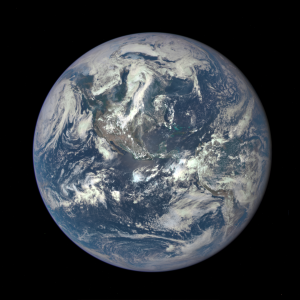 Lounging around L1: DSCOVR spacecraft has returned its first view of the entire sunlit side of Earth from one million miles away, as seen on July 6, 2015. Credit: NASA