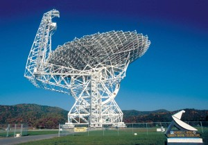 Green Bank Telescope (GBT) will join in the search, receiving roughly $2 million per year for 5 years. The 100-meter GBT is the world's largest fully steerable radio telescope, located in West Virginia. Credit: NSF