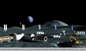 Moon mining base. Credit: Anna Nesterova