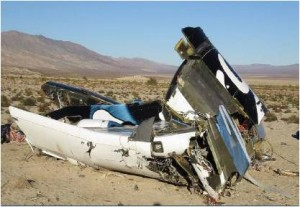 SpaceShipTwo wreckage. Courtesy: NTSB