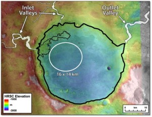 One leading landing site - Jezero. Credit: Mars Landing Site Steering Committee/T. Goudge, et al.