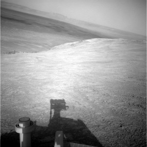Opportunity rover uses its Navigation Camera to collect image on Sol 4106. Credit: NASA/JPL