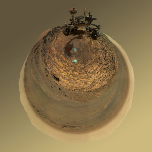 "Round-Horizon Version of Curiosity's Low-Angle Selfie at ""Buckskin"". Credit: NASA/JPL-Caltech/MSSS"