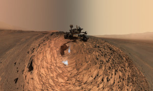 "Curiosity Low-Angle Self-Portrait at ""Buckskin"" Drilling Site on Mount Sharp. Credit: NASA/JPL-Caltech/MSSS"