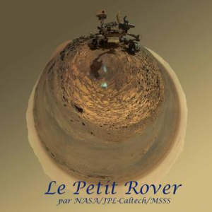 The Little Rover: The circular version of Curiosity's recent selfie inspired this work by MAHLI's Megan Kennedy Wu. Credit: Megan Kennedy Wu