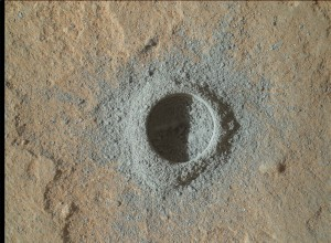 Roughly an hour later, this image was taken by Mars rover Curiosity's Mars Hand Lens Imager (MAHLI). Credit: NASA/JPL-Caltech/MSSS