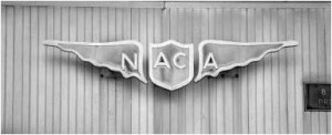 From Emblems of Exploration: Logos of the NACA and NASA.