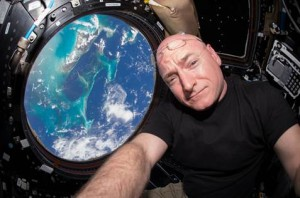 NASA astronaut Scott Kelly takes a selfie with the Bahamas from 250 miles above Earth aboard the International Space Station. Credit: Scott Kelly/NASA