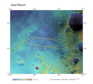 Oxia Planum has been recommended as the primary candidate for the landing site of the ExoMars 2018 mission. Credit: ESA/DLR/FU Berlin & NASA MGS MOLA Science Team