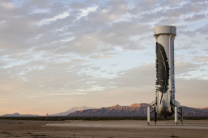 Back on Earth - the New Shepard. Credit: Blue Origin