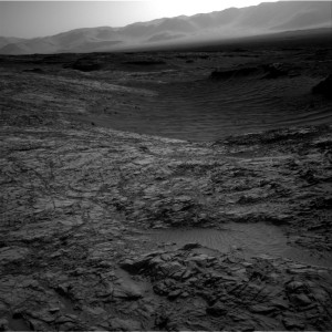 This image was taken by Curiosity's Right B Navcam on November 3, 2015, Sol 1153.   Credit: NASA/JPL-Caltech