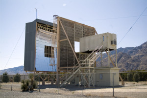 Large solar furnace at White Sands Missile Range in New Mexico was used to shed light on the idea of asteroid mining. Credit: Drew Hamilton, White Sands Missile Range, New Mexico