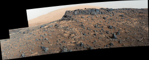 This view from the Mast Camera (Mastcam) on NASA's Curiosity Mars rover shows a site with a network of prominent mineral veins below a cap rock ridge on lower Mount Sharp. Credit: NASA/JPL-Caltech/MSSS