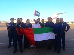 Aircraft observing team. Credit: UAE Space Agency
