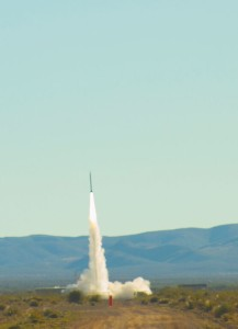 UP Aerospace SpaceLoft rocket on November 6 launch departing from Spaceport America's Vertical Launch Complex-1. Credit: Spaceport America