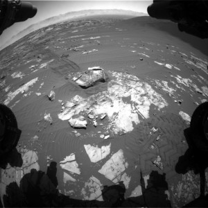 Curiosity Front Hazcam Right B Sol 1195, December 16, 2015. Credit: NASA/JPL-Caltech