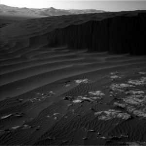 This image was taken by Curiosity's Navcam Left B camera on Sol 1194, December 16, 2015. Credit: NASA/JPL-Caltech