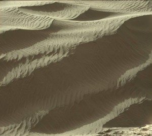 Curiosity view of Namib Dune, taken by rover's Mastcam Right camera on Sol 1190, December 11, 2015. Credit: NASA/JPL-Caltech/MSSS