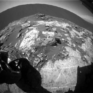 Curiosity Rear Hazcam Left B image taken on Sol 1206, December 28, 2015 Credit: NASA/JPL-Caltech