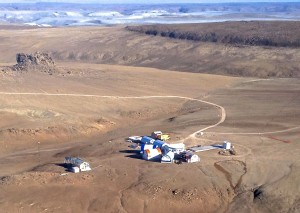 The Haughton-Mars Project (HMP) Research Station is home for field campaigns of international teams of scientists. Credit: NASA HMP