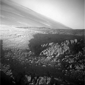 Opportunity's Navigation Camera shows its surroundings on Sol 4236. Credit: NASA/JPL