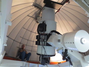 First telescope of the Asteroid Terrestrial-Impact Last Alert System (ATLAS) system is up and operating on Haleakala. Credit: Institute for Astronomy at the University of Hawaii