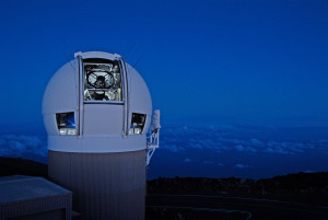 The Panoramic Survey Telescope & Rapid Response System (Pan-STARRS) 1 telescope on Maui's Mount Haleakala, Hawaii has produced the most near-Earth object discoveries of the NASA-funded NEO surveys in 2015. Credit: University of Hawaii Institute for Astronomy/Rob Ratkowski