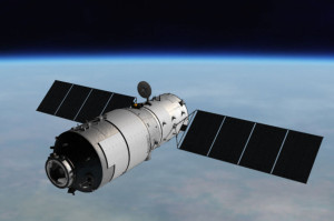Artist's concept of the Tiangong-1 in Earth orbit. Credit: CMSA