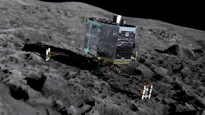 Philae was the first human-made object to make a landing on a comet. Credit: ESA/ATG Medialab