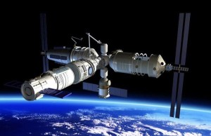 China's 60-ton medium-size space station is depicted in this artwork. Credit: CNSA