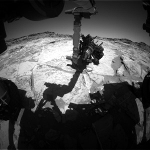 Curiosity Front Hazcam Left B image taken on Sol 1276, March 9, 2016. Credit: NASA/JPL-Caltech
