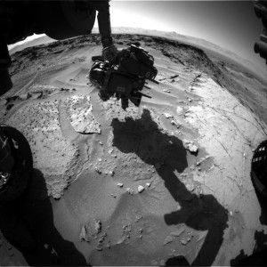Curiosity Front Hazcam Left B image taken on Sol 1279, March 12, 2016. Credit: NASA/JPL-Caltech
